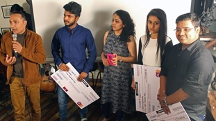 Judge Rahul Bose with three of the winners